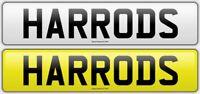 HARRODS - HA66ODS DESIGNER CHERISHED PRIVATE NUMBER PLATE RARE BOSS F1 C63 AMG