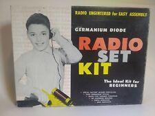 Vintage Educational Electronics Co. Chicago Geranium Diode Radio Set Kit 1960s
