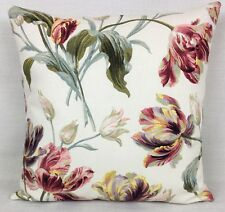Laura Ashley Gosford Cranberry Floral Fabric Cushion Cover Double Sided