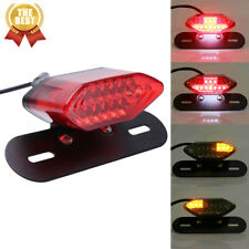 Universal Motorcycle Led Turn Signals Brake Integrated License Plate Tail Light