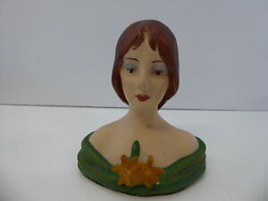 Vintage Chalkware Bust of Woman