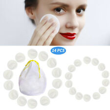 14PC Soft Makeup Remover Pads Cotton Wipes Face Facial Cleansing Pad Reusable US