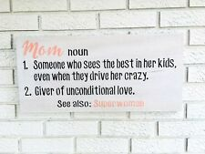 Mom Definition Sign, Mom Noun Sign, Mom Sign, Mothers Day Gift, Gift for Mom