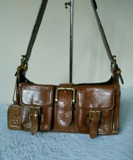 Drift Ladies Leather Medium Old Saddle Nut / Brown Grab Shoulder Hand bag N27