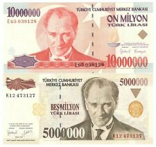 Turkey, 5,000,000+10,000,000 Lira 1997 (UNC) #1341