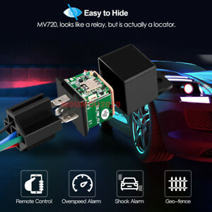 Hidden Car Tracking Relay GPS Tracker Anti-theft Phone APP Text Kill Fuel Pump*1
