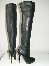 new TOPSHOP 'barley2' over the knee thigh high leather boots uk 5 eu 38 us 7.5