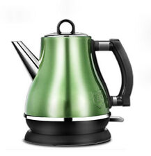 Europea Style Green Stainless Steel 1.2 L Electric Aspect Kettle Boiler Jug #