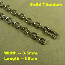 """23.62"""" Pure Titanium Necklace 3.5mm O shaped chain Anti-allergy Necklace"""