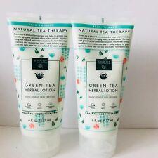 2x Earth Therapeutics - Green Tea Herbal Lotion Antioxidant Skin 6 oz/177 ml New