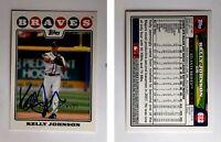 Kelly Johnson Signed 2008 Topps #612 Card Atlanta Braves Auto Autograph