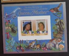 Tuvalu Nui 1985 Queen Mother's 85th Birthday IMPERF MS concorde fungi UM MNH
