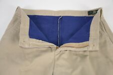 Vintage Orvis  Men's Khaki Pants Sz 34 Thick Outdoor Fishing Britches Wool Lined