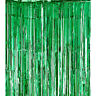 Metallic Tinsel Curtain Foil 1m 2m 3m 4m Backdrop Pom Poms Streamers Decor AUS