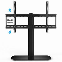 Fitueyes TV Stand Universal Table Top Flat Screen TV Base Fits 32 to 65 Inch TVs