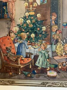 Vintage Mica Glitter? Advent Christmas Calendar West Germany Paper Ephemera
