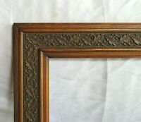 "ANTIQUE FIT 17""x 20"" OAK WOODEN PICTURE FRAME FINE ART ORNATE ENGLISH VICTORIAN"