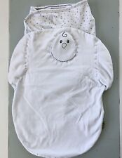 Lot Of 2 Nested Bean Zen Swaddles Classic Weighted Sleep Sack-Size 0-6 Months