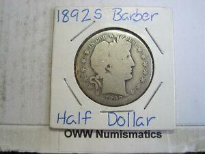 1892-S Barber Half Dollar