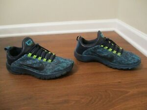 Used Worn Size 10 Nike Free Trainer 5.0 LSA Pack Shoes Turquoise Blue Green Camo