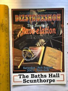 Dizstruxshon Rave flyer 18.08.01 Baths Hall