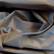 Silk Fabric Iridescent Color Shift Blue Gold Satin Vtg Designer Sewing Decor BTY