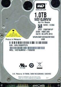 WD10JMVW-11S5XS0  HBKTJBKB, WESTERN DIGITAL USB3 1TB  WXL1 APR 2013