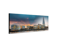 120x40cm Panorama Neues Rathaus London bei Sonnenuntergang Leinwand Sinus Art
