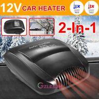2 in 1 Car Auto Cigarette Lighter Heater Cooling Fan Defroster Demister 12V 150W