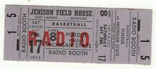 1972-73 Michigan State Purdue Basketball Unused Ticket