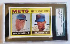 1967 TOM SEAVER / NOLAN RYAN ROOKIE CARD SGC 96 - 1990 ACME - HOF New York Mets