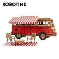 Robotime Camper Van 3D Puzzle DIY Wooden Car Model Toy Gift for Children Adult