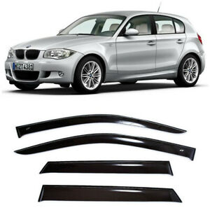For BMW 1 (E87) Hb 2004-2011 Window Visors Side Sun Rain Guard Vent Deflectors