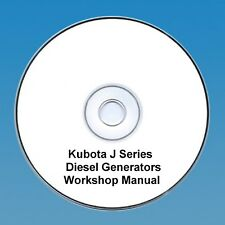 KUBOTA J Serie Generatori Diesel Manuale di Officina-molti molti modelli!!!