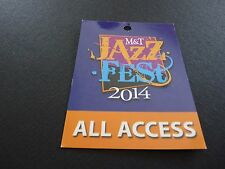 BB King Tour Issued Backstage Concert Pass LAMINATE ALL ACCESS 2014 Jazz Fest
