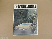 1967 Chevrolet Chevy Impala SS Caprice Bel Air Biscayne dealer sales brochure