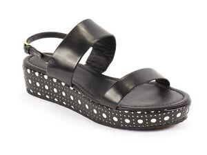 Kate Spade Tasely Platform Sandal in Black & White Women's US Sizes 7 & 11 $250
