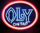 """VTG Olympia On Tap Neon Sign .. 21 """" x 25 """" New/Old Stock ..Local Pickup Only"""