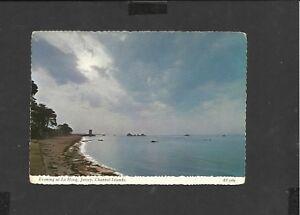 Vintage Bamforth Postcard La Evening at Le Hocq Jersey Channel Islands unposted