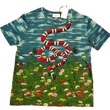 871c7bc52a939a J-3214389 New Gucci Snake Sky Garden Linen T-shirt Size XL