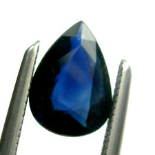 0.75 carat Pear 7x5mm Deep Blue Color Natural Australian Sapphire Loose Gemstone