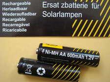 2 x Akku Mignon AA Ni-MH 600mAh für SOLAR - LEUCHTEN