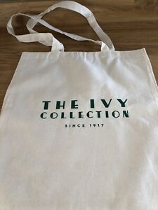 The Ivy Restaurant - The Ivy Collection Since 1917 Cloth Bag Brand New