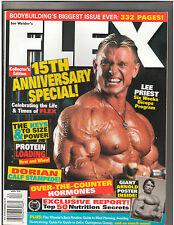 FLEX Lee Priest/ ARNOLD SCHWARZENEGGER Bodybuilding magazine 4-98
