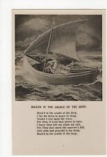 Rapid Song Card RP Postcard, Rocked In The Cradle Of The Deep, A461