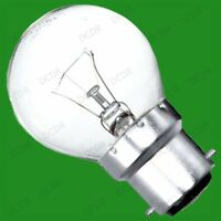 12x 60W INCANDESCENT CLEAR ROUND DIMMABLE GOLF LIGHT BULB BC B22 BAYONET CAP