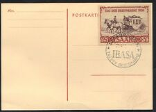 GERMANY SAAR LAND 1950 IBASA SOUVENIR CARD STAMP & SPECIAL CANCEL Mi. 291