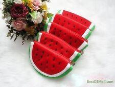 New Girls Womens Soft Plush Watermelon Coin Holder Purse Wallet Pouch Gift Bag