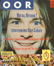 MAGAZINE OOR 1992 nr. 08 - KURT COBAIN (NIRVANA) / QUEEN / ANIIE LENNOX / SCENE
