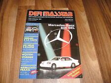 L'échelle 5/1991 -- magazine pour voitures/camions chez Rallye Paris-Dakar/600 SEL